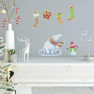 RoomMates RMK3837SCS Polar Christmas - Self-Adhesive Repositionable Vi