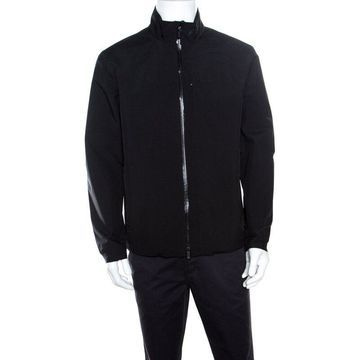 Z Zegna Black Soft Shell Travel Essential Zip Front Jacket L