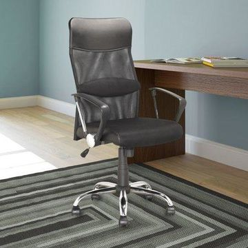 CorLiving Executive Office Chair, Black Leatherette and Mesh