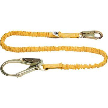 Werner SoftCoil 6ft. Single Leg Lanyard with BigHead Safety Hook - Model C351200