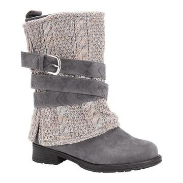MUK LUKS Women's Nikita Mid Calf Boot Grey/Ash Polyester/Synthetic