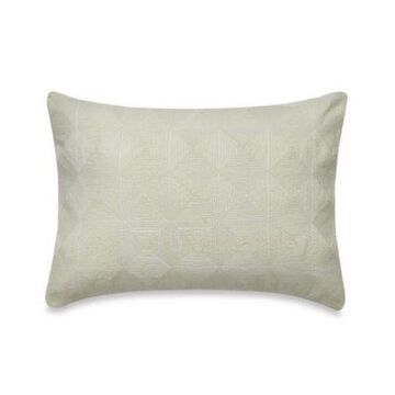 Vera Wang Fretwork Box Breakfast Throw Pillow in Light Cream