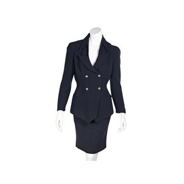 Thierry Mugler Navy Wool Skirts