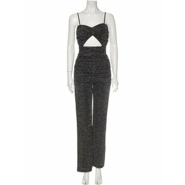 Square Neckline Jumpsuit Black