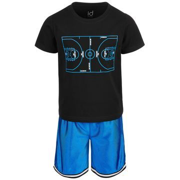 Little Boys 2-Pc. Basketball Graphic T-Shirt & Shorts Set