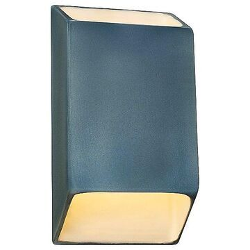Justice Design Group Ambiance Tapered Rectangle Open Top and Bottom LED Wall Sconce - Color: Blue - Size: Small - CER-5865-MDMT