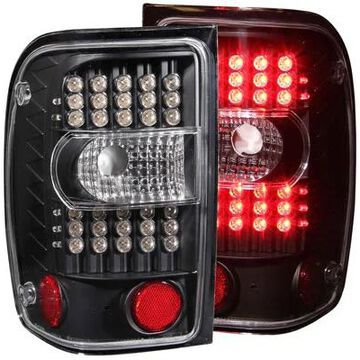 2005 Ford Ranger Anzo USA LED Tail Lights in Black, LED Tail Lights - 311107