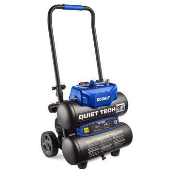 Kobalt Quiet Tech 4.3-Gallon Portable Electric Twin Stack Air Compressor