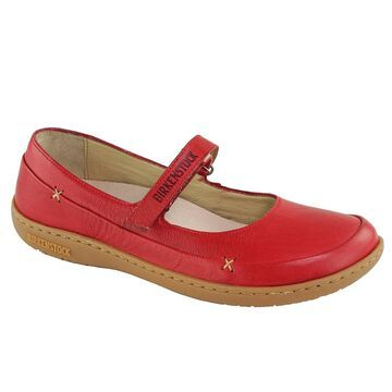 Birkenstock Women's Iona Natural Leather Shoes - Red