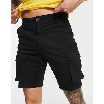 Only & Sons cargo shorts in black
