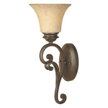 Designers Fountain 81801 Mendocino 1 Light Up Lighting Wall Sconce