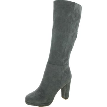 Charles by Charles David Womens Converter Knee-High Boots Microsuede Tall - Charcoal