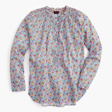 Ruffle classic popover shirt in Liberty& Favourite Flowers