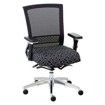 Array Patterned Fabric Seat Mesh Back Ergonomic Chair