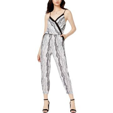 bar III Womens Surplice Jumpsuit
