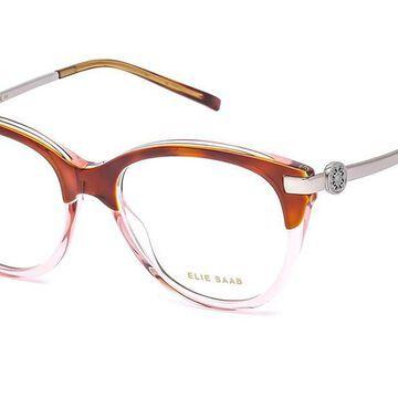 Elie Saab 056 00T4 Men's Glasses Brown Size 52 - Free Lenses - HSA/FSA Insurance - Blue Light Block Available