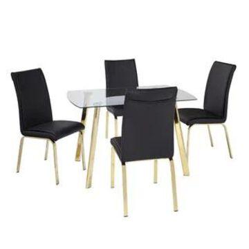 Simple Living 5-Piece Uptown Dining Set (Black)