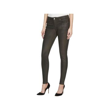 William Rast Womens Perfect Skinny Pants Faux Suede Flat Front
