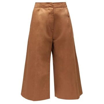 Marni - High-rise Cropped Trousers - Womens - Brown