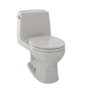 Toto UltraMax One-Piece Round Bowl 1.6 GPF Toilet, Sedona Beige (MS853113S#12)