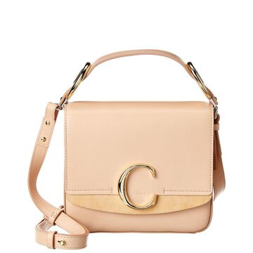 Chloe C Small Leather & Suede Shoulder Bag
