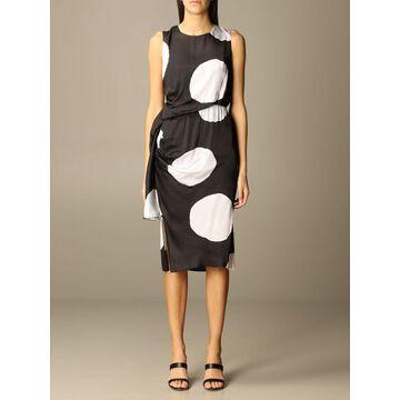 Manila Grace dress with macro polka dots