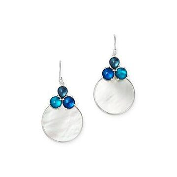 Ippolita Sterling Silver Wonderland Overlapping Drop Earrings with Mother-of-Pearl Doublet in Blue Moon