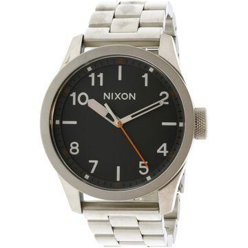 Nixon Men's Safari A974131 Silver Stainless-Steel Quartz Fashion Watch