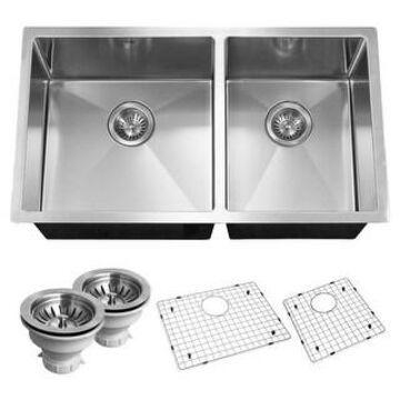 "Houzer CND-3360 Savoir 32"" Double Basin 18 Gauge Kitchen Sink for - Stainless Steel"