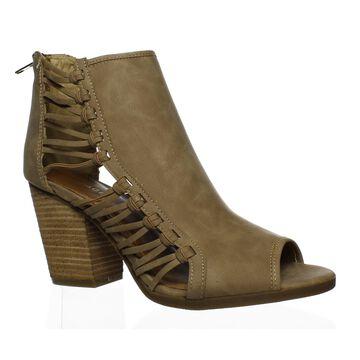 Rampage Womens Viva Natural Peep Toe Heels Size 9.5