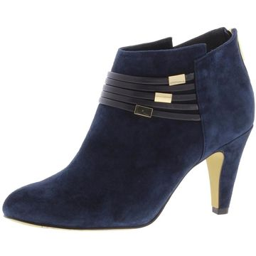 Bella Vita Womens Nerissa Booties Suede Ankle