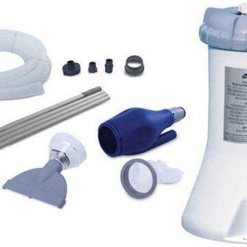 Intex 530 GPH Easy Set Swimming Pool Pump & Kokido K535CBX/BLU Skooba Vacuum