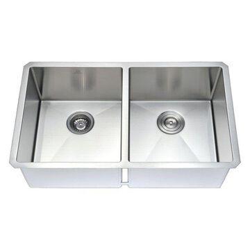 ANZZI Vanguard Undermount Stainless Steel Kitchen Sink w/Singer Faucet