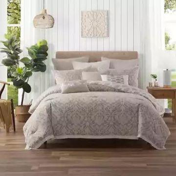 Ellen Tracy Chandler King Comforter Set in Beige