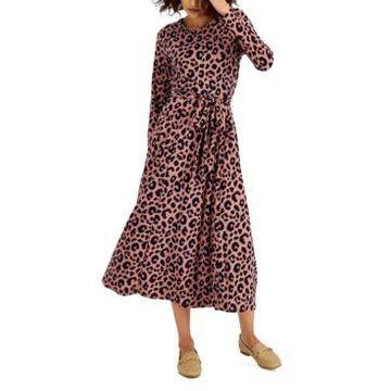 Anne Klein Animal-Print Midi Dress