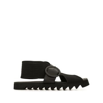 criss cross ridged sole sandals