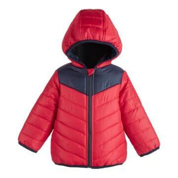 First Impressions Baby Boys Colorblock Puffer, Created for Macy's