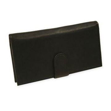 Piel Leather Classic Multi-Card Wallet in Black