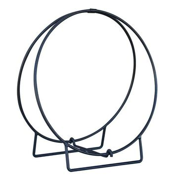 Black 48in Diameter Log Hoop