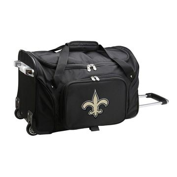 Denco New Orleans Saints 22-Inch Wheeled Duffel Bag