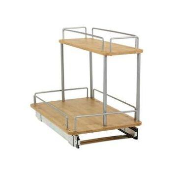 """Household Essentials Glidez 2-Tier 11.5"""" Sliding Cabinet Organizer"""