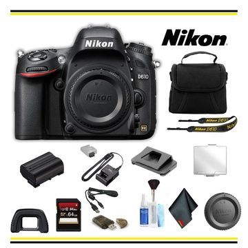 Nikon D610 DSLR Camera Bundle - (Intl Model)