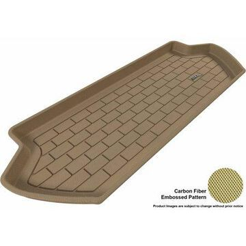 3D MAXpider 2003-2014 Volvo XC90 All Weather Cargo Liner in Tan with Carbon Fiber Look