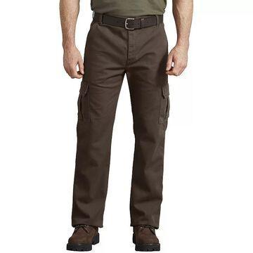 Men's Dickies FLEX Regular-Fit Tough-Max Duck Cargo Pants, Size: 32X34, Brown