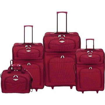Traveler's Choice Amsterdam TS-6950 4 Pc Travel Collection Red - US One Size (Size None)