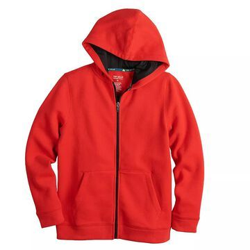 Boys 8-20 Tek Gear Ultra Soft Full-Zip Hoodie, Boy's, Size: Small HUSKY, Med Red