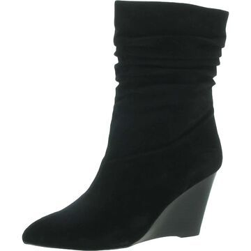 Charles by Charles David Womens Wedge Boots Suede Ankle