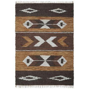 Brown Matador Leather Chindi Rug