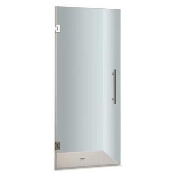 Aston Cascadia Frameless Hinged Shower Door, Chrome, 22