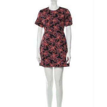 Msgm Floral Print Mini Dress Black Msgm Floral Print Mini Dress